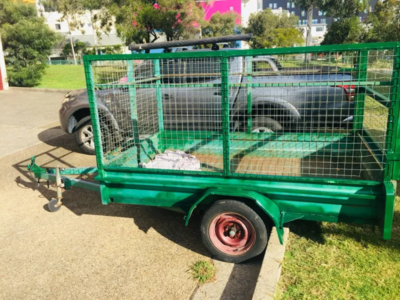 Hire 8x5 Caged Trailer