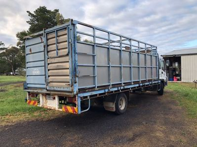 Hire Tray truck with stock crate.