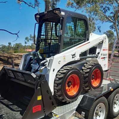 Bobcat Skid Steer Loader Hire with 4 in 1 Bucket & Plant Trailer