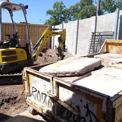 Hire zero swing 1.7 tonne excavator