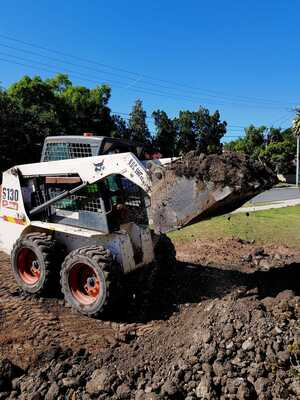 Mini 3T Excavator, 2.4T Bobcat and Tipper Combo with Operator for (wet) hire near Capalaba 4157