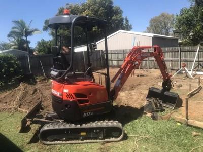 Hire Kubota 1.7t mini excavator