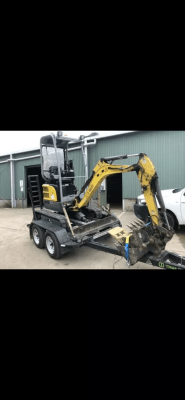 Hire 1.7T Excavators