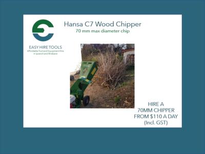 Hire 70mm Wood Chipper - Hansa C7