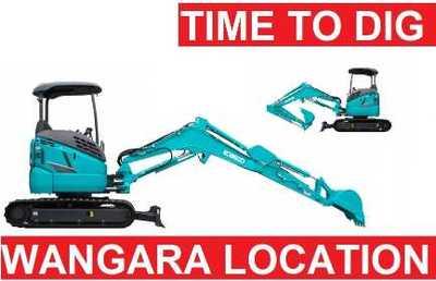 3.5 TON EXCAVAOTR DIGGER RUBBER TRACKS RESPONSE HIRE 1300820603
