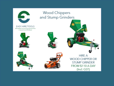 Hire stump grinder - easy to use - good for narrow - tight access