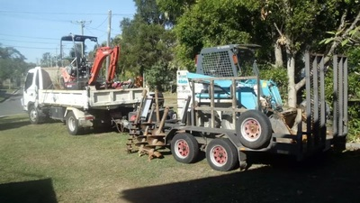 2t excavator, 2t bobcat and 4t tipper combo for wet hire with operator- CHERMSIDE CENTRE, QLD