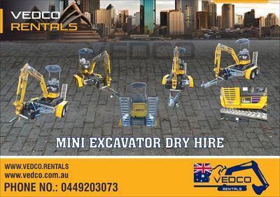 Mini Excavator dry Hire PC18MR-3