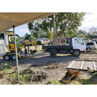 Mini 1.7T excavator, mini 4.5T tipper (Combo) and operator for hire near Shailer Park