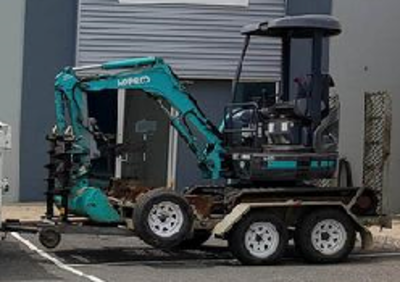 Excavator, skid steer and tipper combo for hire